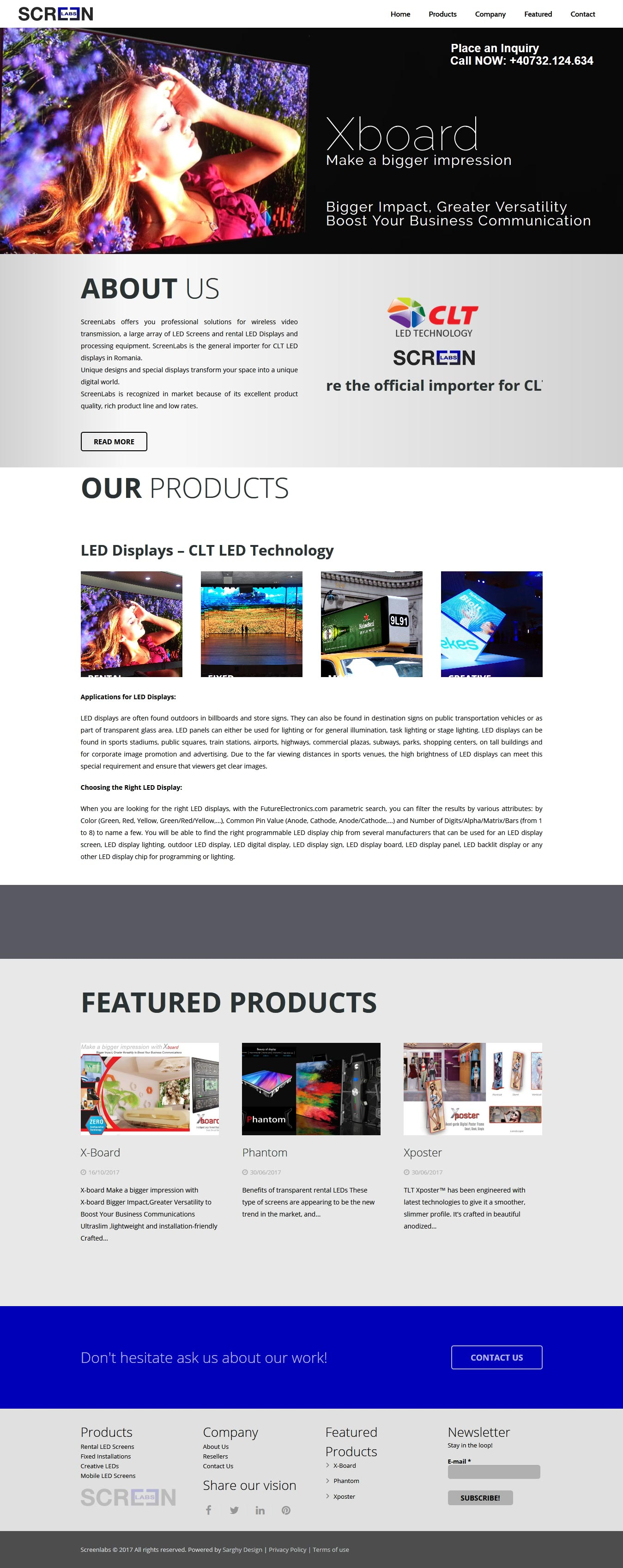 Screenlabs Website Creat de Sarghy Design Agentie Web Design